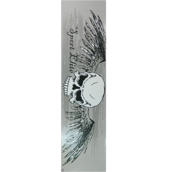 Sport Elite Gray Skull & Wings Skateboard Griptape