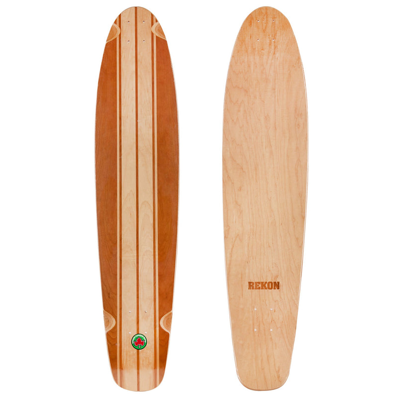 9 inch longboard deck with single cherrywood layer