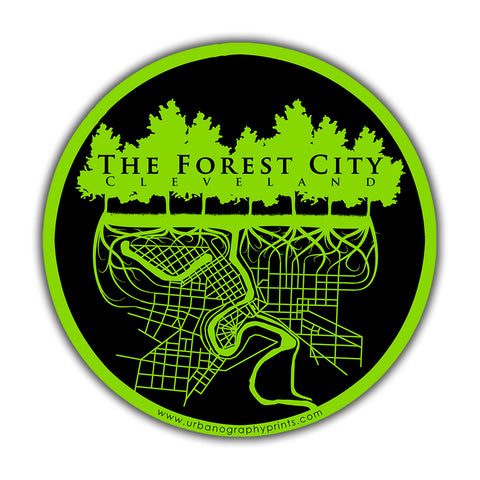 The Forest City Sticker