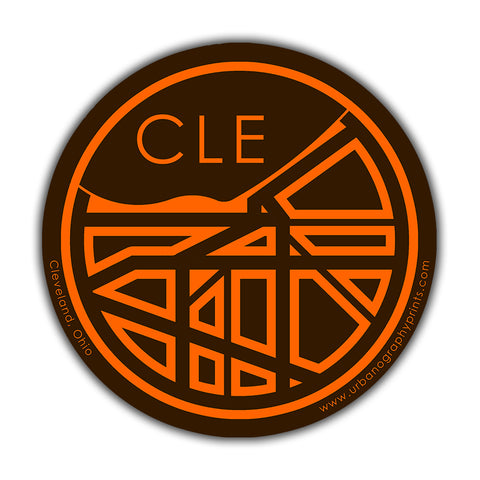 Cleveland T & O Map Sticker