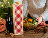 SINGLE-BOTTLE CANVAS WINE BAGS | SET OF 4 | MLT.