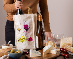 2-BOTTLE CANVAS WINE BAGS | SET OF 3 | MLT.