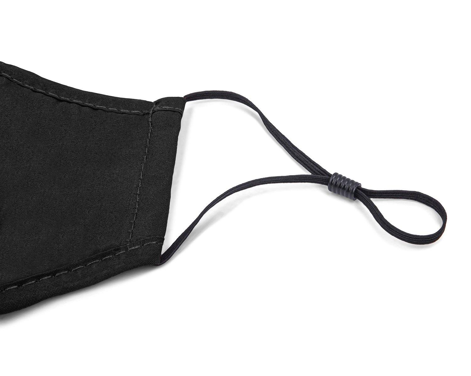 REUSABLE COTTON FACE MASK | SET OF 2 | BLACK.