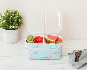 FOOD CUBE™ 3L ALL-IN-ONE LUNCH BOX | Minty Flamingo