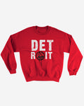 Detroit Series 001 Classic Crewneck Sweatshirt (Red)