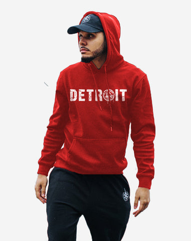 Detroit Hooded Sweatshirt (Red)