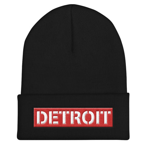 Detroit Box Logo Cuffed Beanie