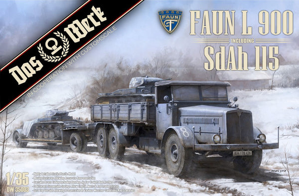 1/35 FAUN L 900 plus Sd.Ah.115 10t low bed trailer
