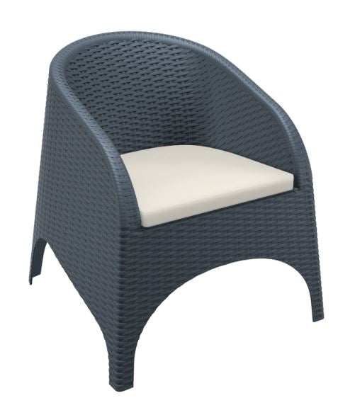 Aruba Arm Chair  with Cushions - Free Shipping to selected areas