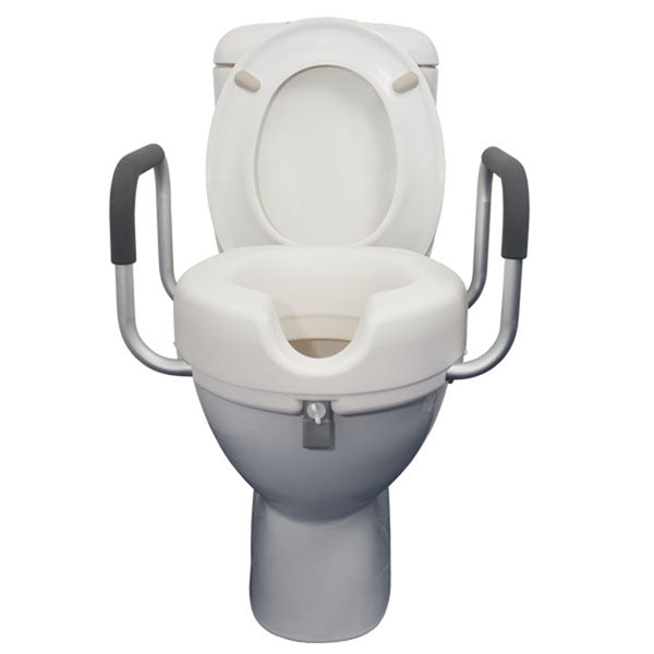 Raised Toilet Seat With Armrest - 10 cm