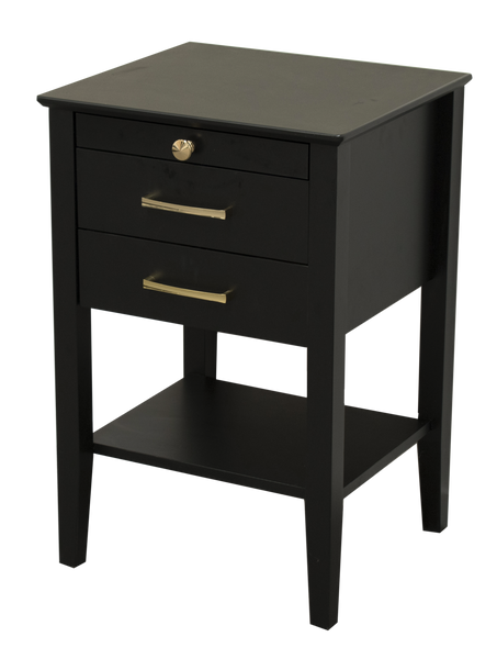 Belle Bedside Table - Black - Clearance items