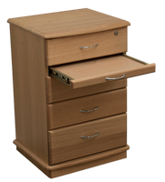 Kingston Bedside Table - 4 Drawer with Tray