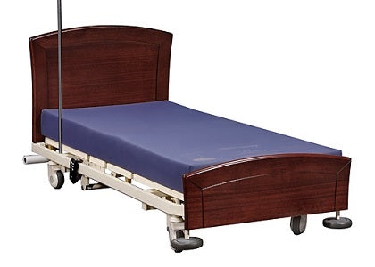 S500 Hi-Lo bed, gold deluxe mattress and Kingston bed head & foot