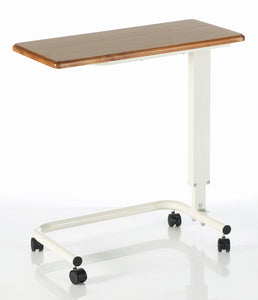 Gas Lift Overbed Table - Solid Timber Top (Gas Lift, for safety)