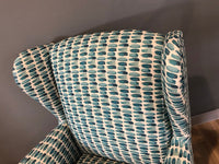 Shania Wing back chair in Bridget Teal