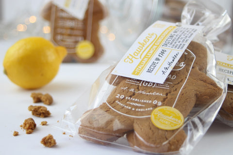 Hawkens gingerbread lemon product on display