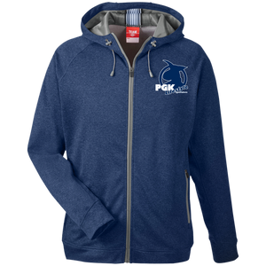PGK Lifestyle Specialists Men's Heathered Performance Hooded Jacket