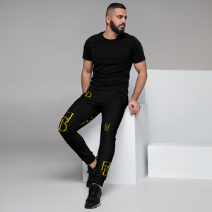 Open image in slideshow, First Born Justice Black and Gold Men's Joggers