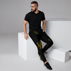 First Born Justice Black and Gold Men's Joggers