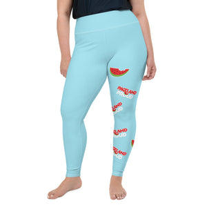 "Open image in slideshow, ""Pageland Proud"" All-Over Print Plus Size Leggings"