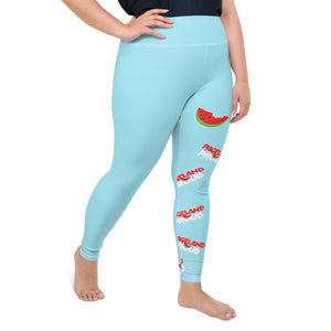 """Pageland Proud"" All-Over Print Plus Size Leggings"
