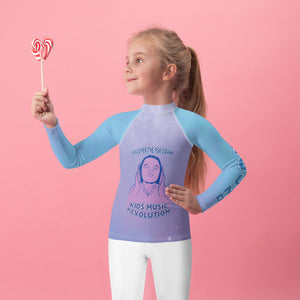 Open image in slideshow, Discover the PGK Sound Audio Toddler Rash Guard - Pink Shadow