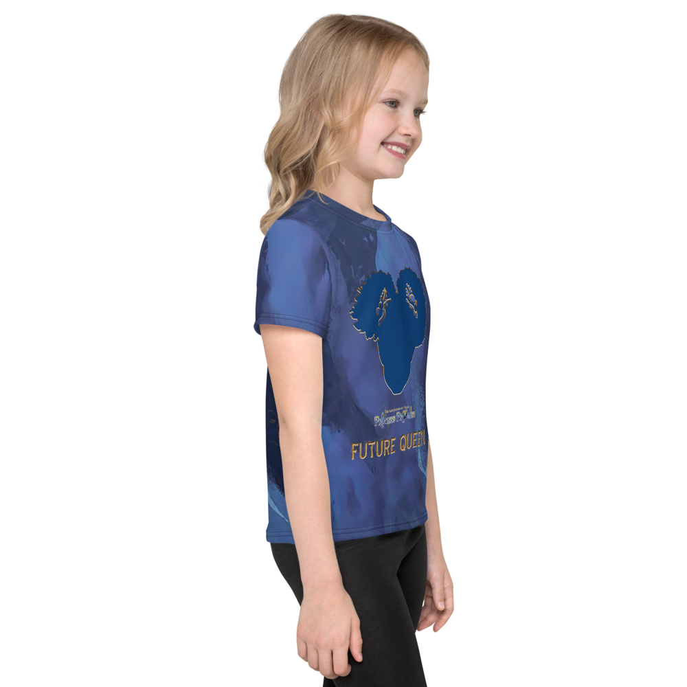 Young Princess Promise Allover Print - Blue Silhouette - Audio Tee