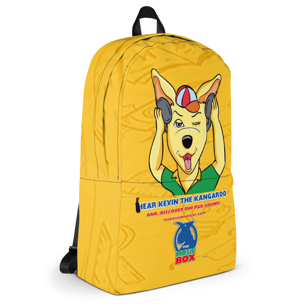 Promiseland Park's Kevin the Kangaroo Yellow Print Audio Backpack