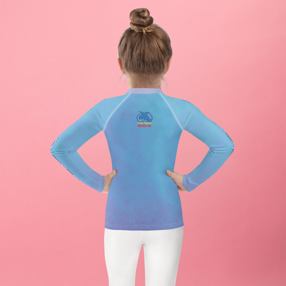 Discover the PGK Sound Audio Toddler Rash Guard - Pink Shadow