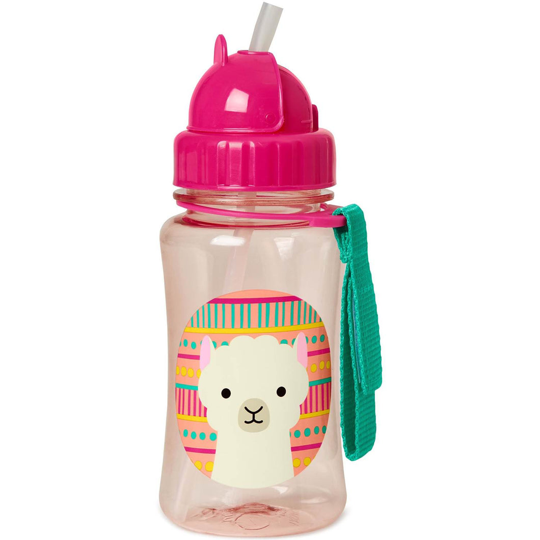 Zoo Bottle with Straw - Llama