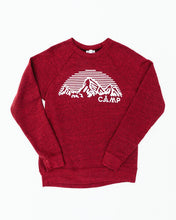 Mountain Arch Crewneck Tri Red