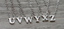 Floating Letter Necklace - Silver