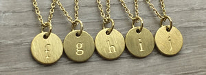 Lowercase Letter Necklace - Gold