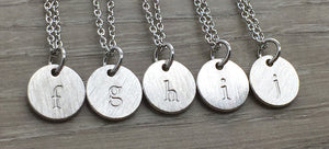 Lowercase Letter Necklace - Silver