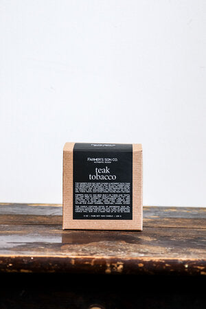 Farmers son co Candle-Teak + Tobacco