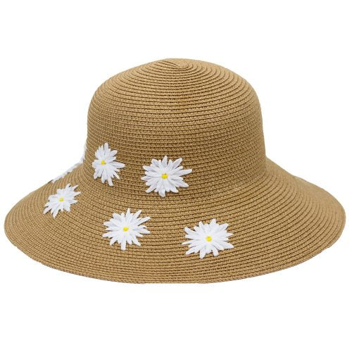 Hat- Sand & Sun with Floral Embroidery