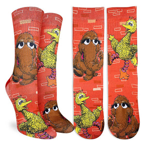 TEST Women's Big Bird and Snuffleupagus Socks
