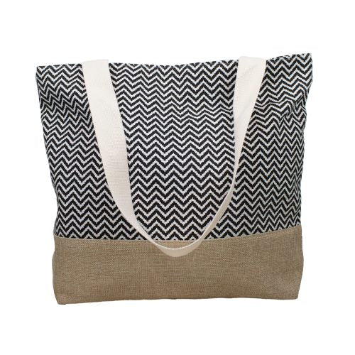 Beack Bag - Chevron Black & White