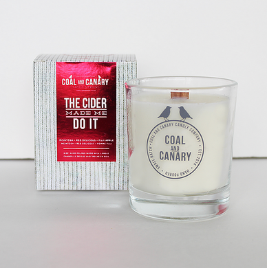 Coal and Canary Candle-The cider made me do it