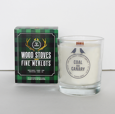 Coal and Canary Candle-Wood stoves & fine merlots