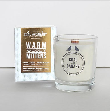 Coal and Canary Candle-Warm wooly mitten 16oz