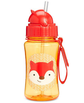 Zoo Bottle with Straw - Fox