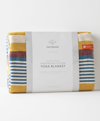 Cotton Yoga Blanket Beach Stripe