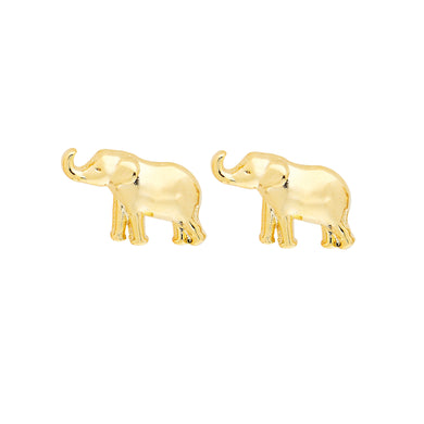 Elephant Earrings in Gold and Silver