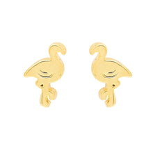 Flamingo Earrings in Gold and SIlver