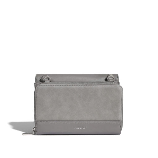Pixie Mood Jane 2 in 1 Wallet Purse - Grey Nubuck