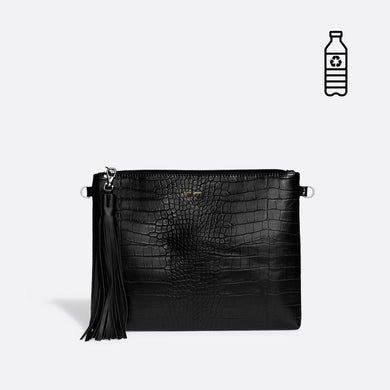 Pixie Mood Michelle Clutch - Black Croc