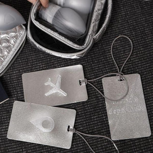 My Tagalongs-Odyssey Set of 3 Luggage tags-Silver
