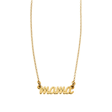 Mama Necklace in Gold or SIlver