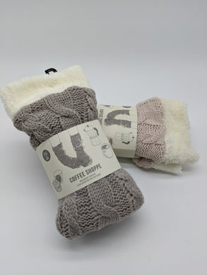 Textured Cable Knit Lounge Socks